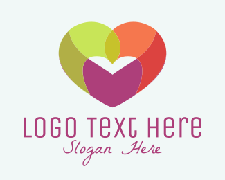 Church And Religious Colorful Heart logo design