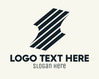 Stripes - Black Stripes Shield logo design
