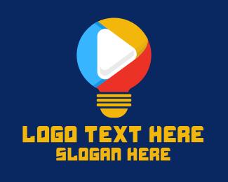 Youtube - Light Bulb Streaming Application logo design