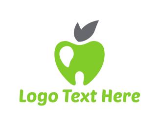Dental - Tooth Apple logo design