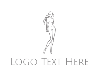 Playboy - Naked Woman logo design