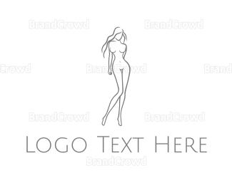 Woman - Naked Woman logo design