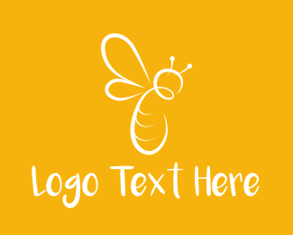 Bumblebee - White Bee logo design
