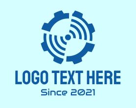 Automation - Blue Radar Gear logo design