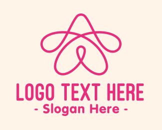 Loop - Pink Star Loop logo design