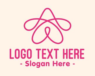 Loop - Pink Star Loop logo design