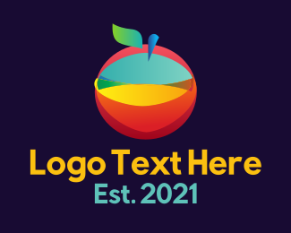 Online Tutor - Colorful Abstract Fruit logo design