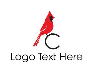 Birdie - Cardinal C logo design