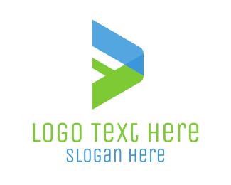 Positive - Digital Play Arrow logo design