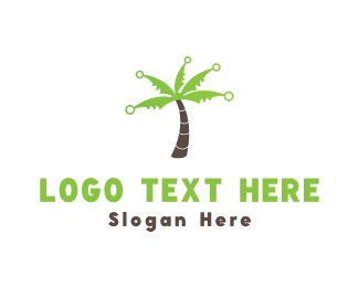 Palm - Electric Palm logo design