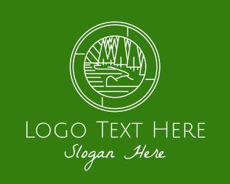 Backpacker - Travel Outdoor Forest  logo design