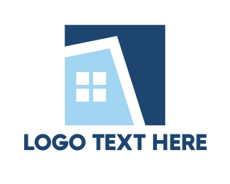 Homeowners - Blue Square House logo design