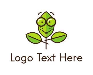 Eyeglasses - Cute Nerd Plant logo design