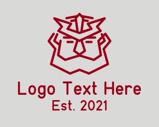 Gaming - Warrior Man Viking logo design