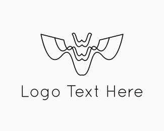 Bat - Abstract Bat logo design