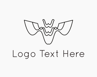 Drone - Abstract Bat logo design