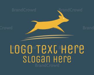 Antelope - Brown Gazelle  logo design