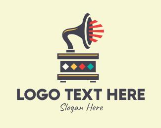 Vintage - Vintage Gramophone logo design