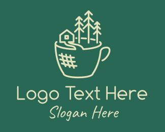 Leaf - Coffee Cup Nature logo design