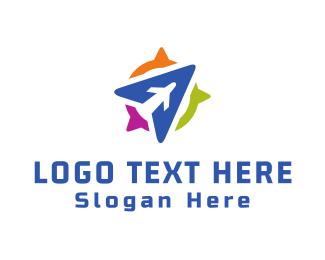 Aeroplane - Blue Aircraft logo design