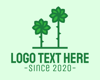 Natural Energy - Green Flower Windmill logo design