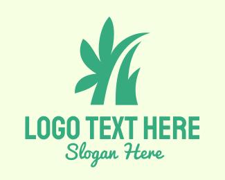 Massage Parlor - Green Eco Grass logo design