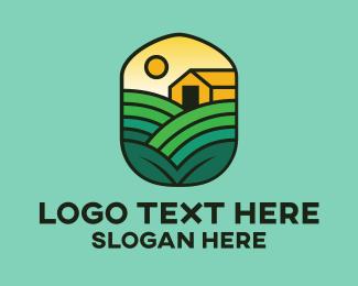 Livestock - Farmer Barn House logo design