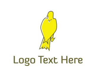 Seagull - Yellow Bird  logo design