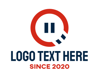 Pause - Pause Button logo design