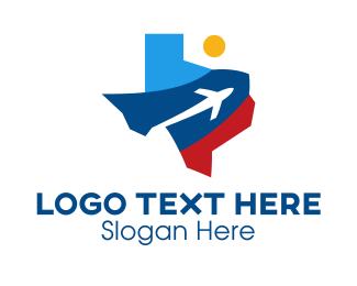 Travel - Texas Air Travel logo design
