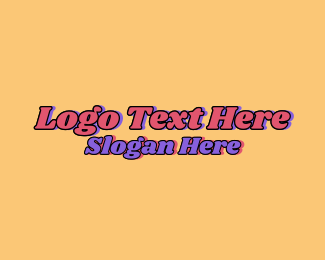 70s - 70s Hippie Wordmark  logo design