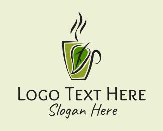 Hot - Organic Hot Coffee logo design