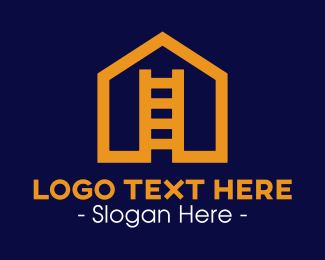 Orange House - House Ladder logo design