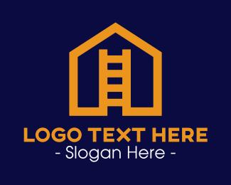 Renovation - House Ladder logo design