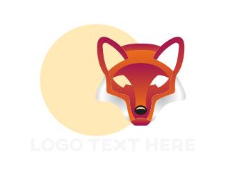 Fox - Abstract Red Fox logo design