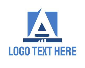 United - Corporate Blue Letter logo design