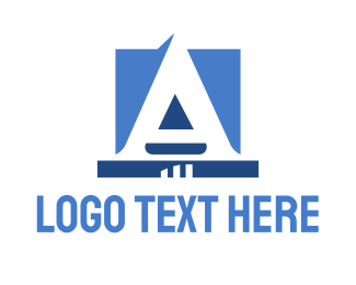 Attorney - Corporate Blue Letter logo design
