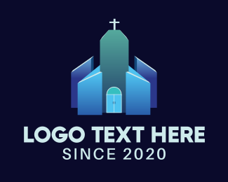 Holy Place - Blue Religious Chapel logo design