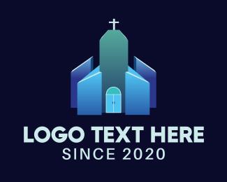 Religious - Blue Religious Chapel logo design