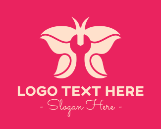 Repairman - Pink Butterfly Wrench logo design