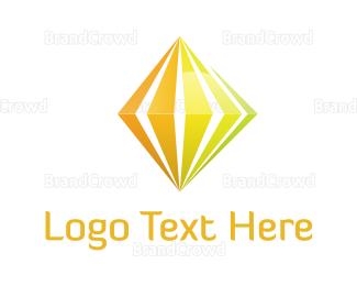 Fortune - Yellow Diamond logo design