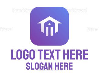 Interior Designer - Purple House App logo design