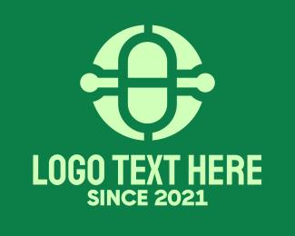 Transcriptionist - Medical Pharmacy Letter O logo design