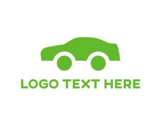 Auto Shop - Green Car logo design