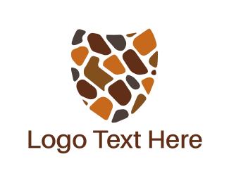 Defense - Stone Shield logo design