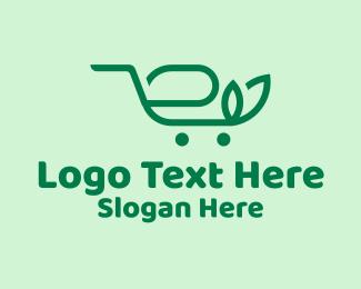 Shop - Organic Shopping Cart  logo design