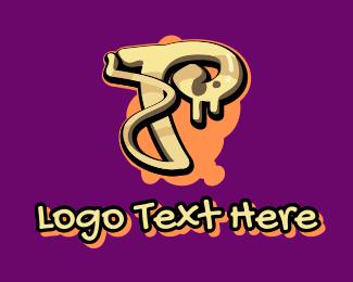 Graffiti - Graffiti Art Letter T logo design
