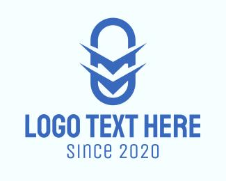 Caplet - Blue Drugstore Letter M logo design