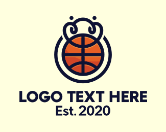 Tourney - Basketball League Tournament logo design