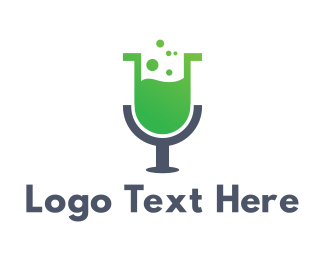 Microphone - Microphone Lab logo design